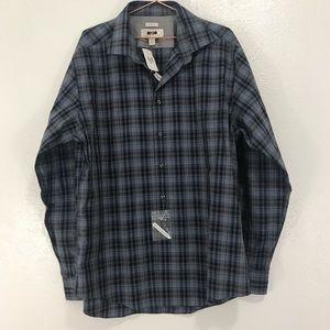 Joseph Abboud Heritage men's Wearhouse button down plaid shirt NWT